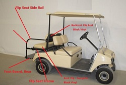 Flip Rear Seat For Club Car DS